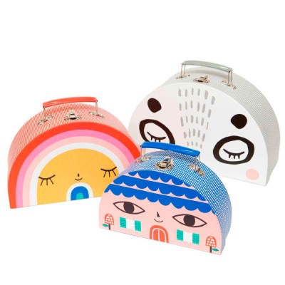 Suzy Ultman Double Face suitcase set