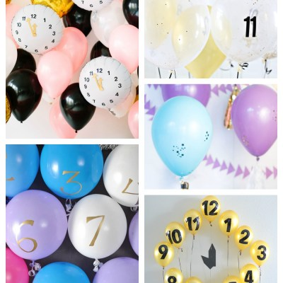 New Year's Eve Balloon Countdown Clock