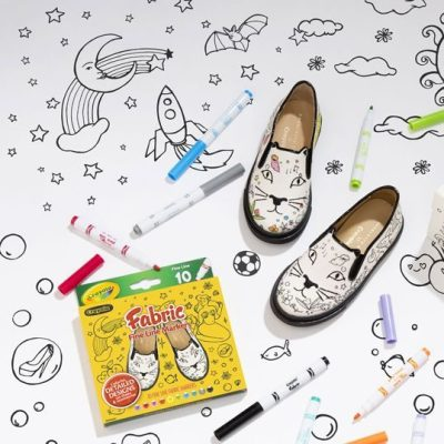 Covetable: Charlotte Olympia x Crayola colour-in shoes