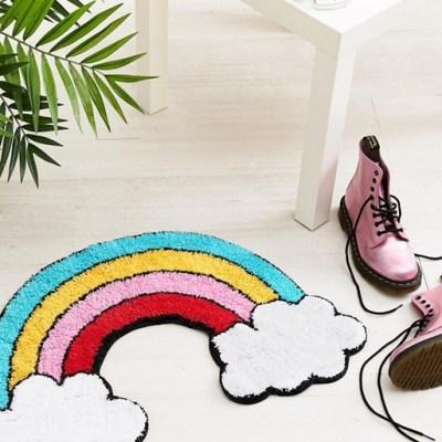 Sass & Belle rainbow rug