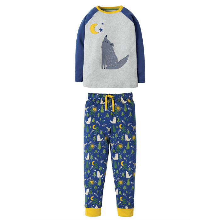Moonlight Wolf pyjamas, from £24, Frugi.