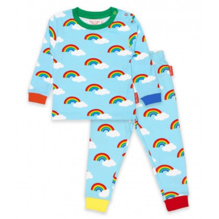Rainbow pyjamas, £19.99, Toby Tiger.