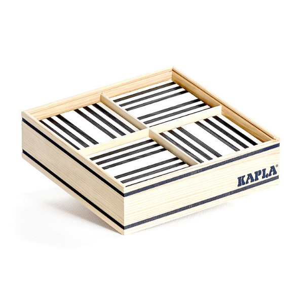 Kapla black and white planks, set of 100, £35, Smallable.