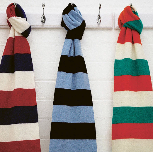 Luxury Cashmere Rugby Scarf, £69.95, Savile Rouge.