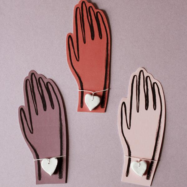 Clay heart bracelets