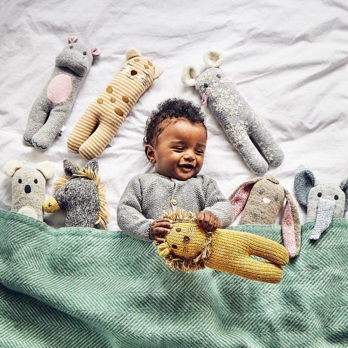 Animal Friends Soft Knit Toy, £19.50, Albetta