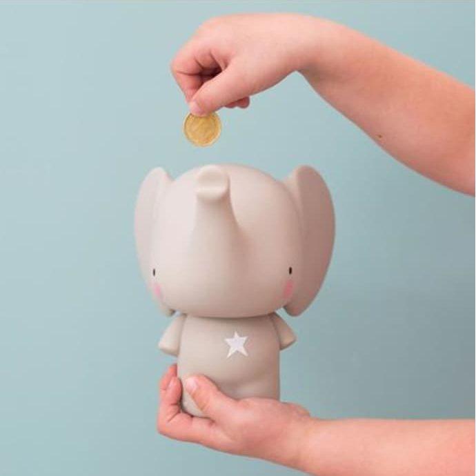 Elephant money box, £14.49, A Little Lovely Company