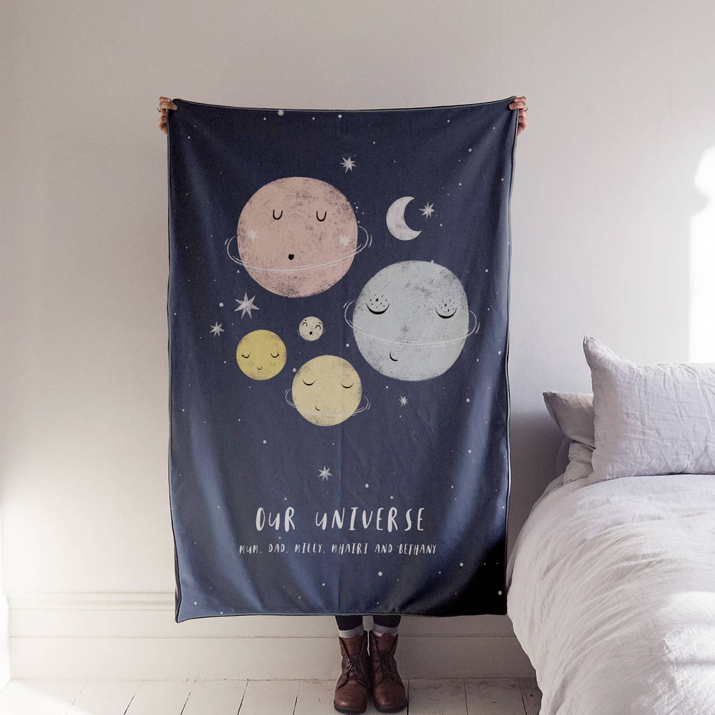 'Our Universe' Family Luxury Blanket, £75, The Drifting Bear Co