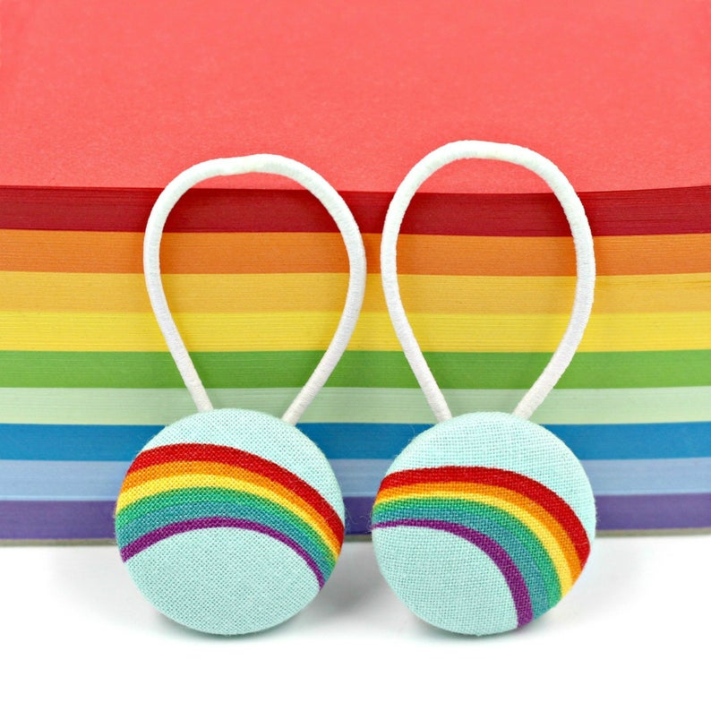 Rainbow Hair Ties, £3.50, LucyMadeMe.
