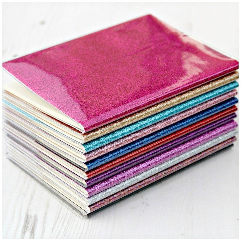 Sparkly Glitter Notebook, £4.50, LucyMadeMe.