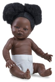 tiny black girl withafro hair withpigtails