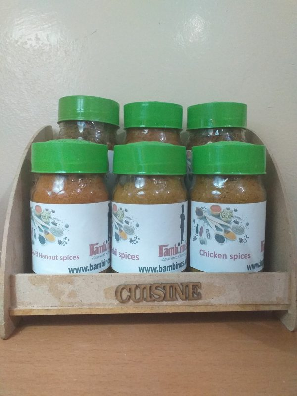 Bambino's favorite Mediterranean Spices with rack