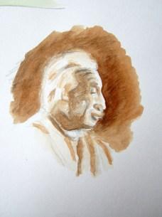 Einstein - aquarel