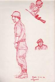 Soldaat - rode stift