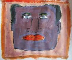Self portrait - acrylics