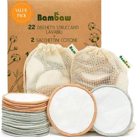 dischetti struccanti lavabili bambaw