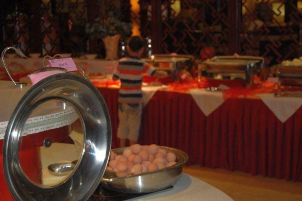 Frühstücksbuffet im Luxus-Hotel