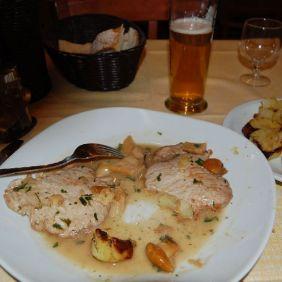 Kalbsschnitzel mit Pilzsoße