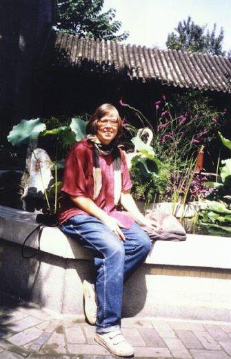 Ich 1992 im Tempel der Weißen Wolke
