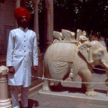Jaipur Palast Mann