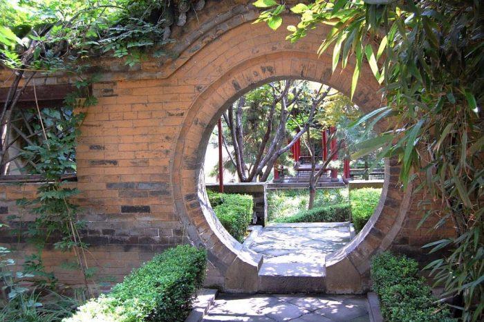 Mondtor im Palast des Ministers Chen in Yangcheng