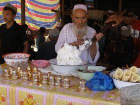 Eisverkäufer auf dem Markt