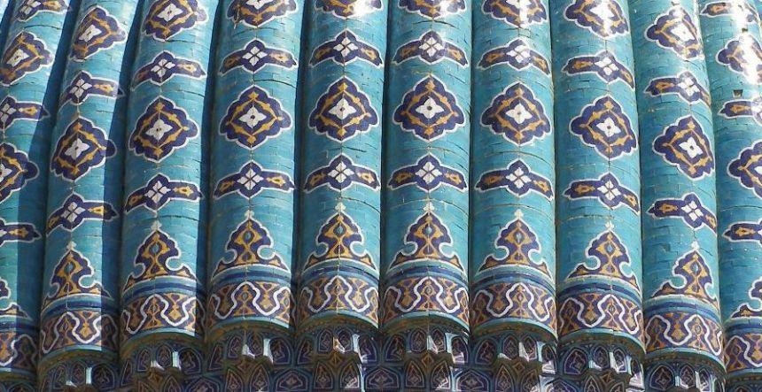 Samarkand Moschee Bibi Khanum Kuppel Detail
