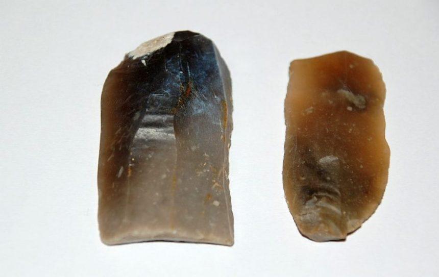 Abshcläge aus Feuerstein, gefunden in Dänemark