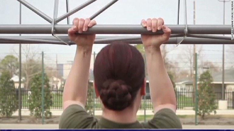 female marines and the three pull up debate