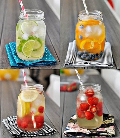 Infused water in mason jar