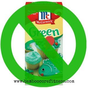 Say No To McCormick Green Food Coloring