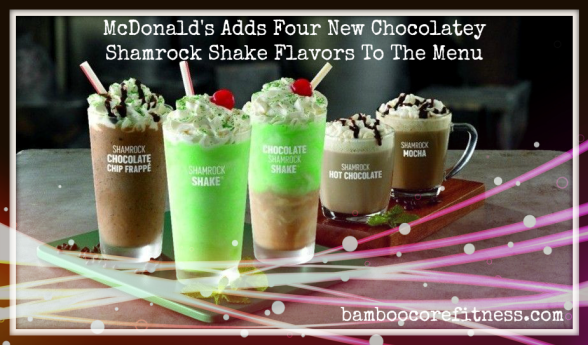 McDonald's adds four new chocolatey Shamrock Shake flavors to the menu