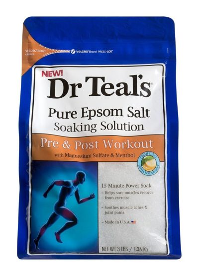 Dr. Teal's Pure Epsom Salt Soaking Solution Pre and Post Workout