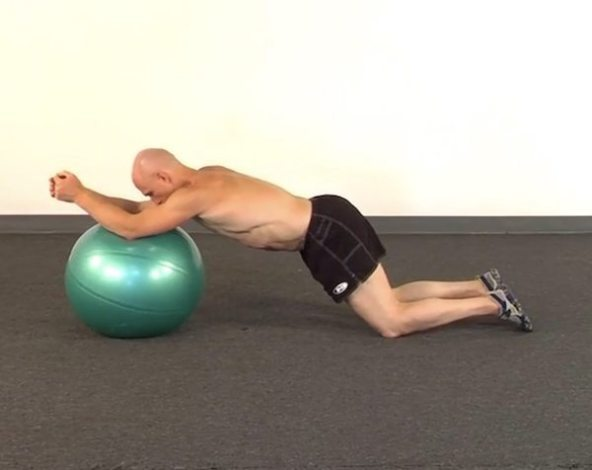 Forward ball roll exercise