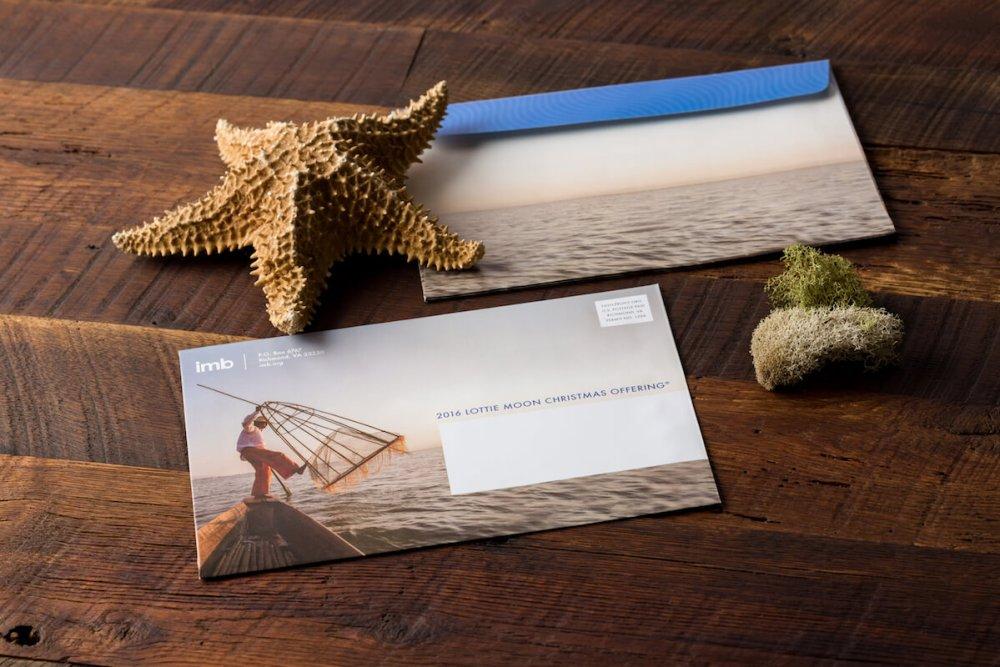 Custom envelopes as part of IMB marketing materials