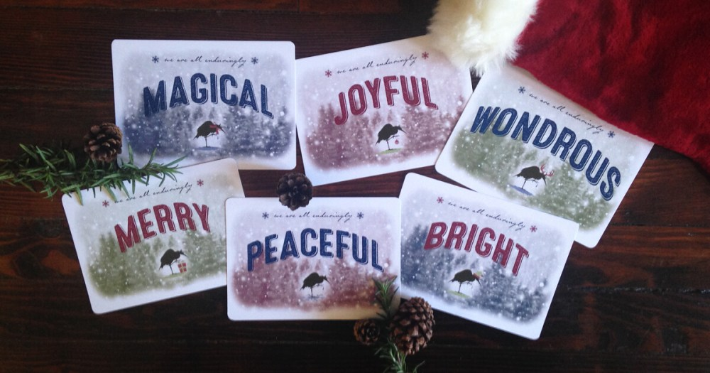 BambooInk holiday greetings postcards