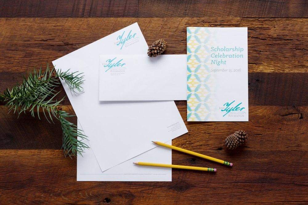 marketing materials for John Tyler Community College, letterhead