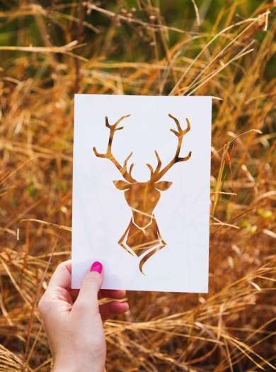 die cut deer
