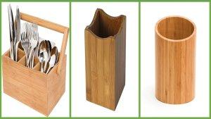 bamboo kitchen utensils holder