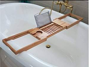 bamboo bathroom caddy