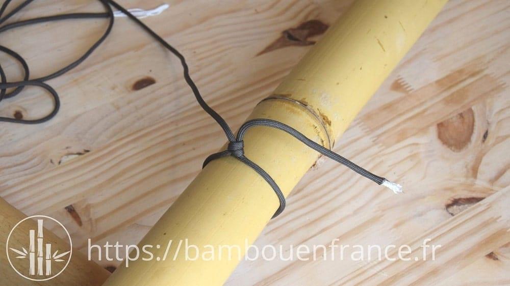 Assembler des bambous avec un brêlage: Etape 1