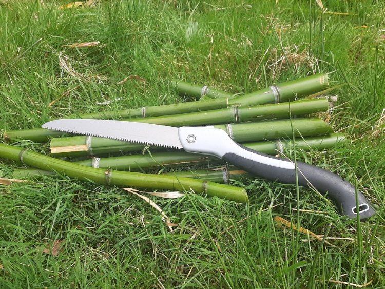 Outil adapté pour couper du bambou vert