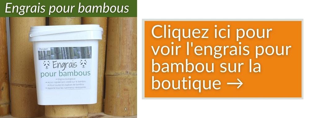 Engrais pour bambou