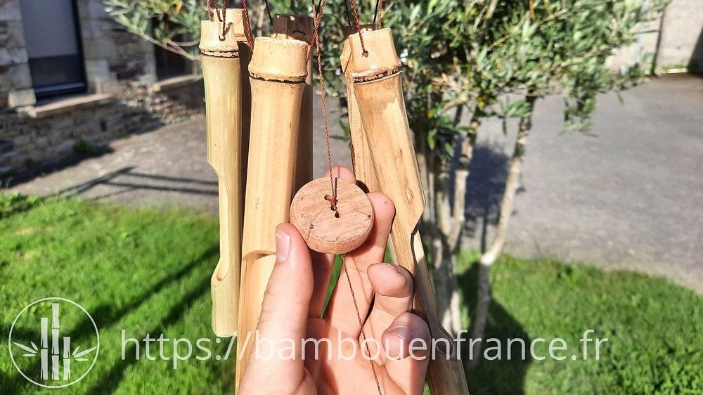 Carillon en bambou et bois