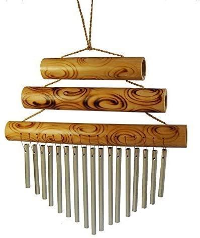 Carillon en bambou et métal