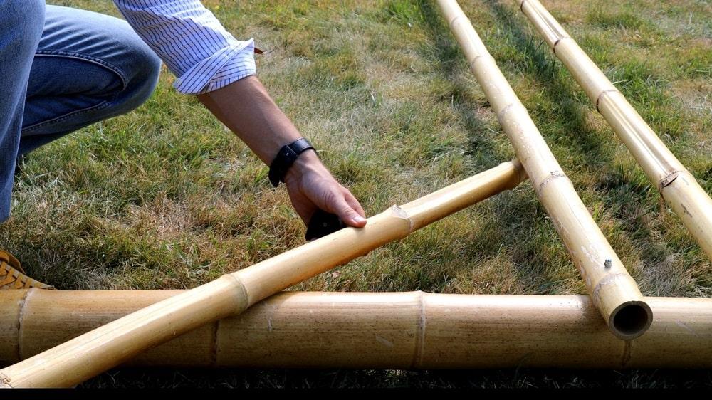 Mesurer la longueur de bambou diagonal nécessaire