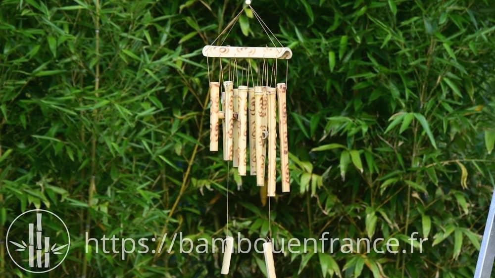 Carillon en bambou feng shui