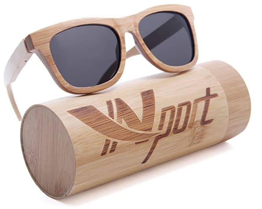 Lunettes bambou Yn port