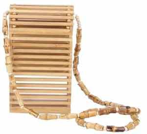 Sac en bambou à bandoulière