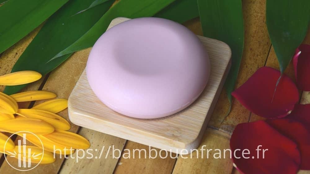 Porte savon en bambou pour savon rond